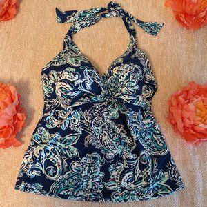 Lauren Ralph Lauren Tankini Top Size 10